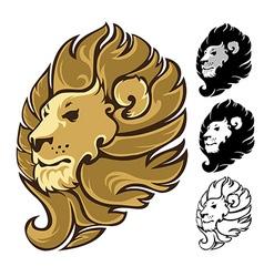 Lion Head Mascot Emblem vector image vector image