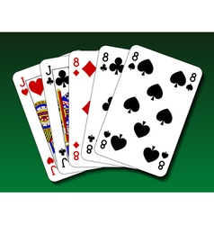 Poker hand - Full house vector image vector image