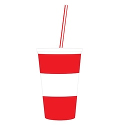 Disposable cup vector image