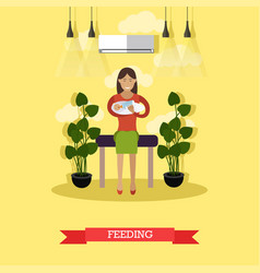 Feeding concept in flat style vector