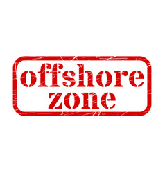 offshore red stamp grunge sign vector image vector image