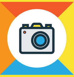 photo apparatus colorful outline symbol premium vector image vector image