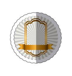 sticker radial background with elegant golden vector image