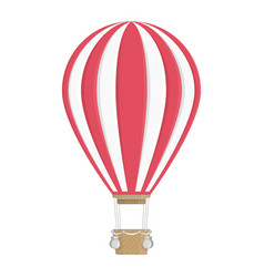 white and red hot air balloon vector image vector image