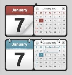 Calendar Set vector image vector image