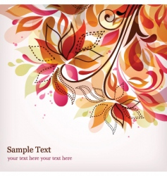 floral graphics vector image vector image
