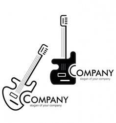 guitar logotype vector image
