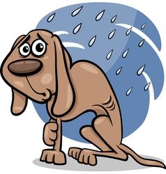 homeless dog cartoon vector image vector image