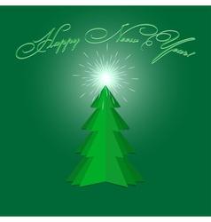 New Year Fur tree vector image