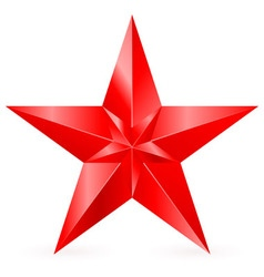 Shiny RED star 09 vector image vector image