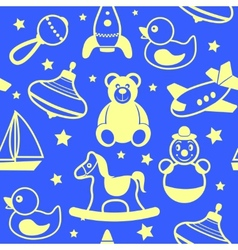 Toys collection wallpaper vector image vector image