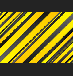 Abstract yellow and black stripes background vector image