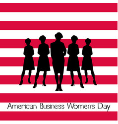 american business womens day vector image