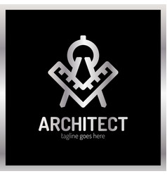 architect letter a logo - ruler luxury royal vector image