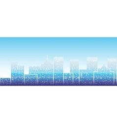 Big modern city vector