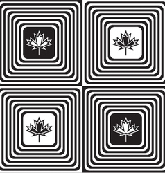 Black and white alternating squares with maple vector image