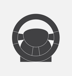 Black icon on white background steering wheel vector
