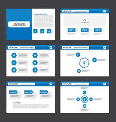 Blue website presentation templates Infographic vector