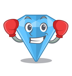 Boxing sapphire gems isolated in character vector
