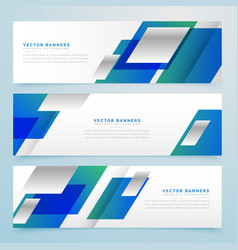business style geometric banners and headers in vector image
