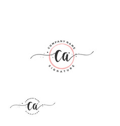 C a initial letter handwriting and signature logo vector