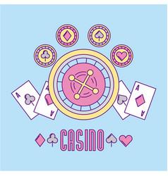 Casino bets open vector