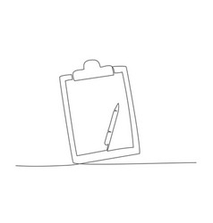 checklist one line drawing vector image