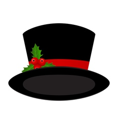 Christmas black hat vector