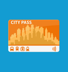 City pass bus train subway vector