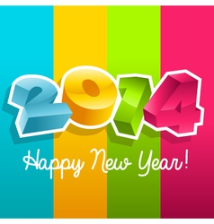 Colorful New Year 2014 vector image vector image