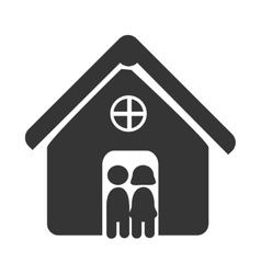Couple relationship icon theme design vector