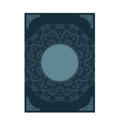 cover page design mandala ornament for menu vector image
