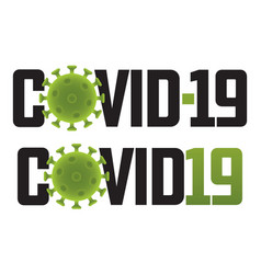 Covid19-19 logo with virus molecule vector