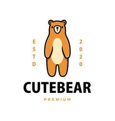 cute beer cartoon logo icon vector image