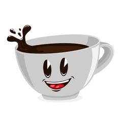 cute cup coffee vector image