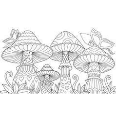 cute mushrooms vector image