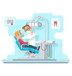 dentist doctor hospital cabinet medical services vector image