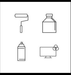Design and studio simple linear icon setsimple vector