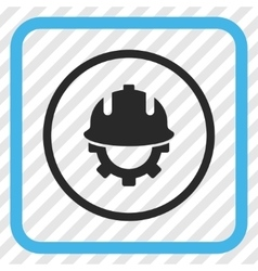 Development Helmet Icon In a Frame vector
