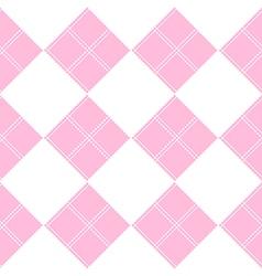 Diamond Chessboard Pink Background vector