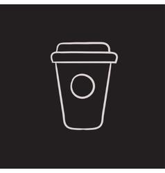 Disposable cup sketch icon vector image