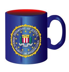 Fbi spoof mug vector