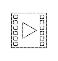 film strip movie player application icon vector image