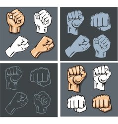 Fists - set Stock vector image