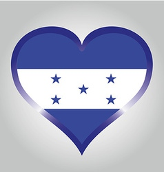 flag from honduras with its respective colors vector image