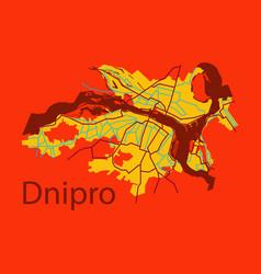 Flat icon map dnepro city vector