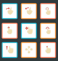 Flat icons nudge rearward hold and other vector