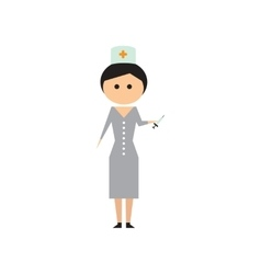 Flat web icon on white background woman doctor vector