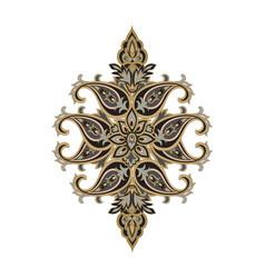 Floral ornament background oriental ethnic design vector