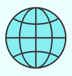 globe line icon simple minimal 96x96 pictogram vector image